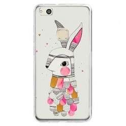 Etui na telefon Huawei P10 Lite - kolorowy królik.