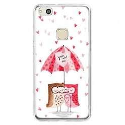 Etui na telefon Huawei P10 Lite - zakochane sowy.