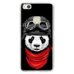 Etui na telefon Huawei P10 Lite - panda w czapce.
