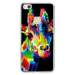 Etui na telefon Huawei P10 Lite - kolorowa żyrafa.
