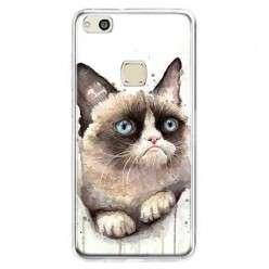 Etui na telefon Huawei P10 Lite - kot zrzęda watercolor.