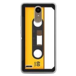 Etui na telefon LG K10 2017 - retro kaseta magnetofonowa.
