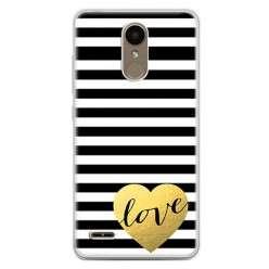 Etui na telefon LG K10 2017 - złote LOVE.