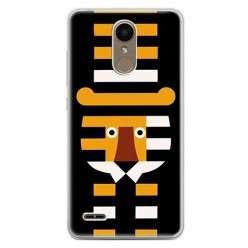 Etui na telefon LG K10 2017 - pasiasty tygrys.