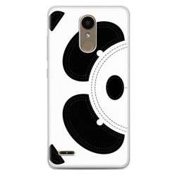 Etui na telefon LG K10 2017 - miś Panda face.