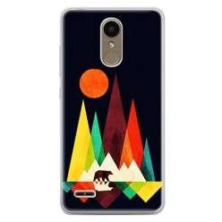 Etui na telefon LG K10 2017 - zachód słońca, abstract.
