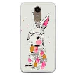 Etui na telefon LG K10 2017 - kolorowy królik.