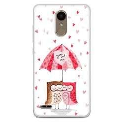 Etui na telefon LG K10 2017 - zakochane sowy.
