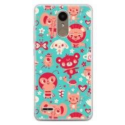 Etui na telefon LG K10 2017 - kolorowe zwierzaki.