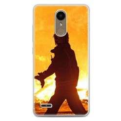 Etui na telefon LG K10 2017 - strażak w akcji.