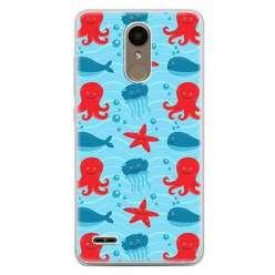 Etui na telefon LG K10 2017 - morskie zwierzaki.