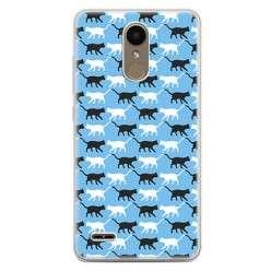 Etui na telefon LG K10 2017 - kotki pattern.