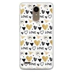 Etui na telefon LG K10 2017 - serduszka Love.