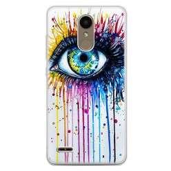 Etui na telefon LG K10 2017 - kolorowe oko watercolor.