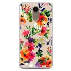 Etui na telefon LG K10 2017 - kolorowe kwiaty.