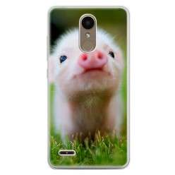 Etui na telefon LG K10 2017 - mała świnka.