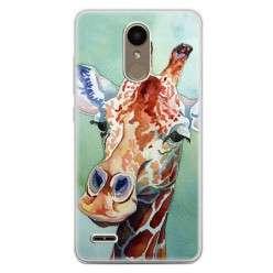 Etui na telefon LG K10 2017 - żyrafa watercolor.