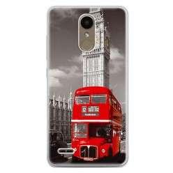 Etui na telefon LG K10 2017 - czerwony autobus.