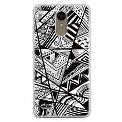 Etui na telefon LG K10 2017 - geometryczne wzory.