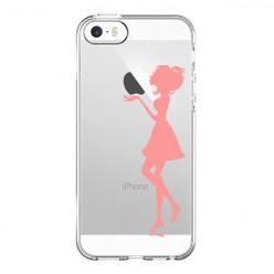 Silikonowe etui z nadrukiem na iPhone 5 - kobieta.
