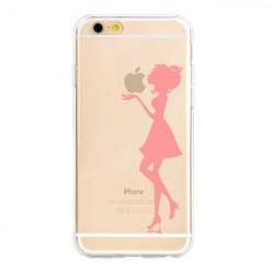 Silikonowe etui z nadrukiem na iPhone 6 Plus - kobieta.