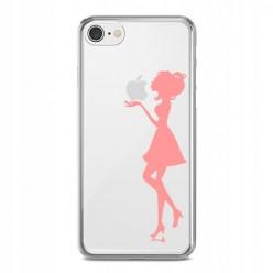 Silikonowe etui z nadrukiem na iPhone 8 - kobieta.