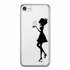 Silikonowe etui z nadrukiem na iPhone 7 - kobieta.