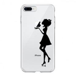 Silikonowe etui z nadrukiem na iPhone 8 Plus - kobieta.