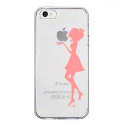 Silikonowe etui z nadrukiem na iPhone 4 - kobieta.