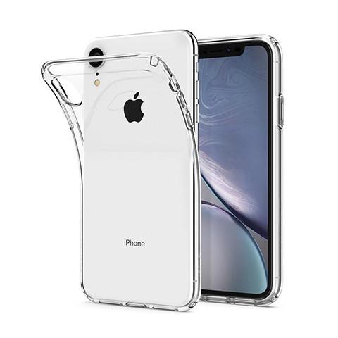 iPhone XR - silikonowe etui na telefon - przezroczyste.