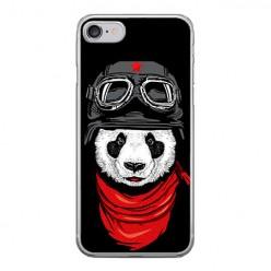 Apple iPhone 8 - silikonowe etui na telefon - Panda w czapce.