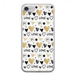 Apple iPhone 8 - silikonowe etui na telefon - Serduszka Love.