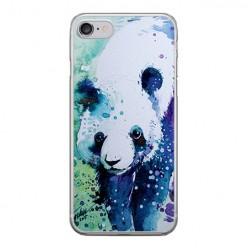 Apple iPhone 8 - silikonowe etui na telefon - Miś panda watercolor.