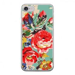 Apple iPhone 8 - silikonowe etui na telefon - Kolorowe róże.
