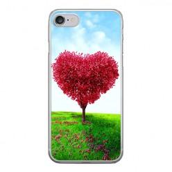 Apple iPhone 8 - silikonowe etui na telefon - Serce z drzewa.