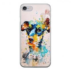 Apple iPhone 8 - silikonowe etui na telefon - Szczeniak watercolor.