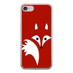 Apple iPhone 8 - silikonowe etui na telefon - Czerwony lisek.