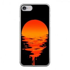 Apple iPhone 8 - silikonowe etui na telefon - Zachodzące słońce.