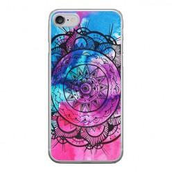 Apple iPhone 8 - silikonowe etui na telefon - Rozeta watercolor.
