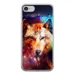 Apple iPhone 8 - silikonowe etui na telefon - Wilk z galaktyki.