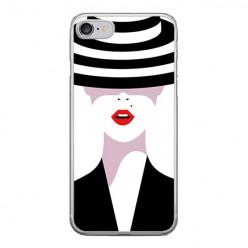Apple iPhone 8 - silikonowe etui na telefon - Kobieta w kapeluszu.
