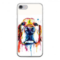 Apple iPhone 8 - silikonowe etui na telefon - Pies labrador watercolor.