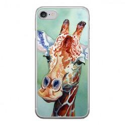 Apple iPhone 8 - silikonowe etui na telefon - Żyrafa watercolor.