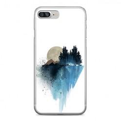Apple iPhone 8 Plus - silikonowe etui na telefon - Górski krajobraz.