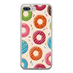 Apple iPhone 8 Plus - silikonowe etui na telefon - Kolorowe pączki.