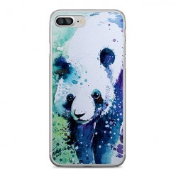 Apple iPhone 8 Plus - silikonowe etui na telefon - Miś panda watercolor.