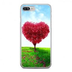 Apple iPhone 8 Plus - silikonowe etui na telefon - Serce z drzewa.