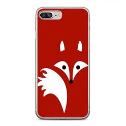 Apple iPhone 8 Plus - silikonowe etui na telefon - Czerwony lisek.