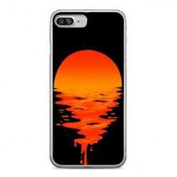 Apple iPhone 8 Plus - silikonowe etui na telefon - Zachodzące słońce.