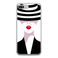 Apple iPhone 8 Plus - silikonowe etui na telefon - Kobieta w kapeluszu.